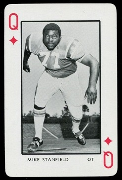 Mike Stanfield 1973 Florida Playing Cards football card