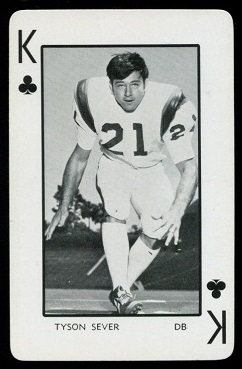 Tyson Sever 1973 Florida Playing Cards football card