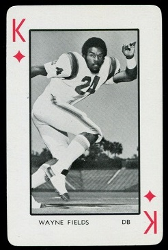Wayne Fields 1973 Florida Playing Cards football card