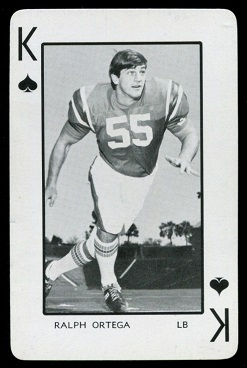Ralph Ortega - 1973 Florida Playing Cards football card #13S