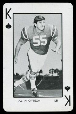 Ralph Ortega 1973 Florida Playing Cards football card