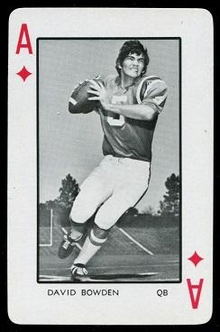 David Bowden 1973 Florida Playing Cards football card