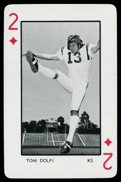 Tom Dolfi 1973 Florida Playing Cards football card