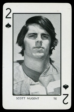 Scott Nugent 1973 Florida Playing Cards football card