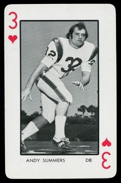 Andy Summers 1973 Florida Playing Cards football card
