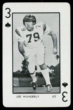 Joe Wunderly 1973 Florida Playing Cards football card