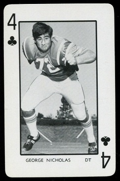 George Nicholas 1973 Florida Playing Cards football card