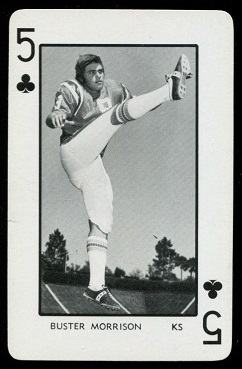 Buster Morrison 1973 Florida Playing Cards football card