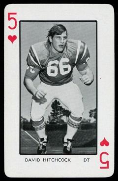David Hitchcock 1973 Florida Playing Cards football card