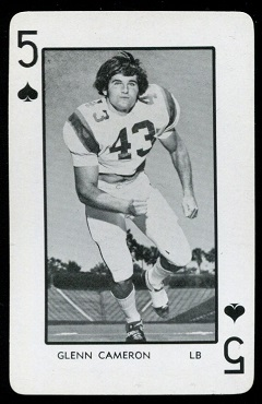 Glenn Cameron - 1973 Florida Playing Cards football card #5S