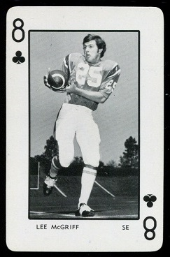 Lee McGriff 1973 Florida Playing Cards football card