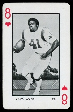 Andy Wade 1973 Florida Playing Cards football card