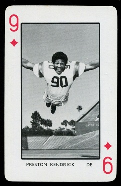 Preston Kendrick 1973 Florida Playing Cards football card