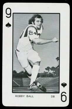 Robby Ball 1973 Florida Playing Cards football card