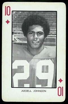 Ardell Johnson 1973 Nebraska Playing Cards football card
