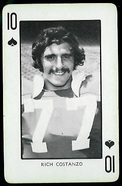 Rich Costanzo 1973 Nebraska Playing Cards football card