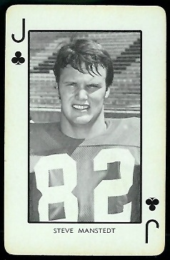 Steve Manstedt 1973 Nebraska Playing Cards football card