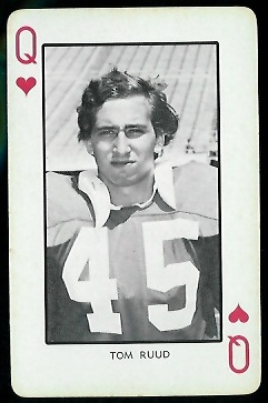 Tom Ruud 1973 Nebraska Playing Cards football card