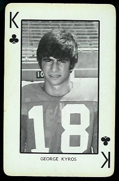 George Kyros 1973 Nebraska Playing Cards football card