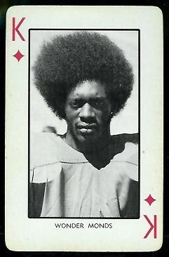 Wonder Monds 1973 Nebraska Playing Cards football card