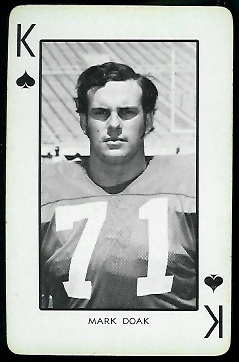 Mark Doak 1973 Nebraska Playing Cards football card