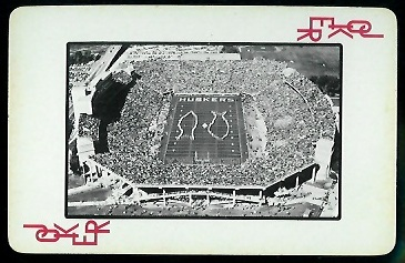 Memorial Stadium 1973 Nebraska Playing Cards football card