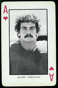 Zaven Yaralian 1973 Nebraska Playing Cards football card