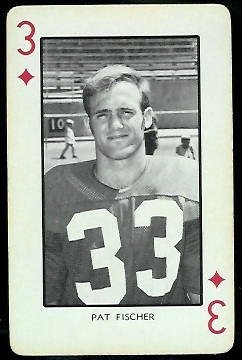 Pat Fischer 1973 Nebraska Playing Cards football card