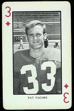 Pat Fischer 1973 Nebraska Playing Cards football card
