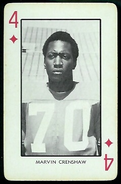 Marvin Crenshaw 1973 Nebraska Playing Cards football card