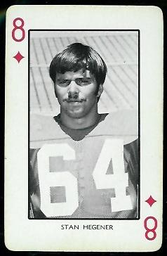 Stan Hegener 1973 Nebraska Playing Cards football card