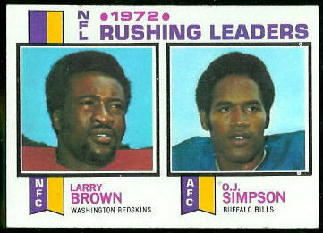 1972 Rushing Leaders 1973 Topps football card