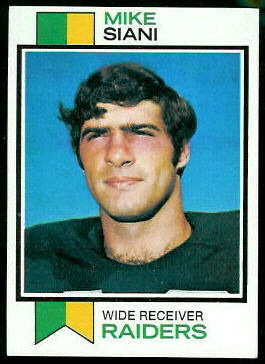 Mike Siani 1973 Topps football card