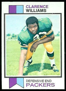 Clarence Williams 1973 Topps football card