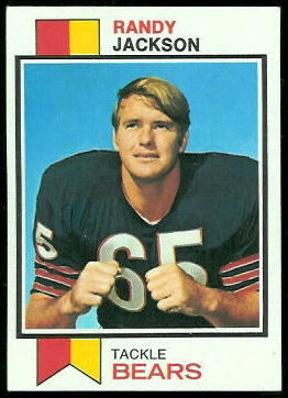 Randy Jackson 1973 Topps football card