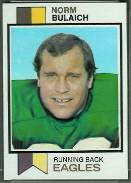 Norm Bulaich 1973 Topps football card