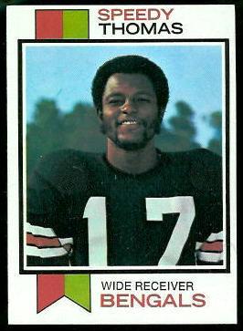 Speedy Thomas 1973 Topps football card