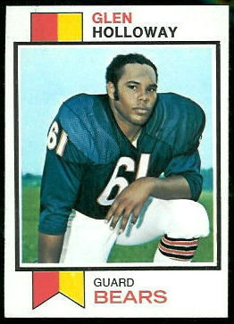 Glen Holloway 1973 Topps football card
