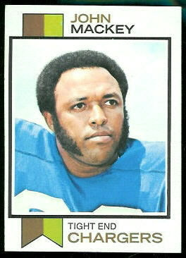 John Mackey 1973 Topps football card