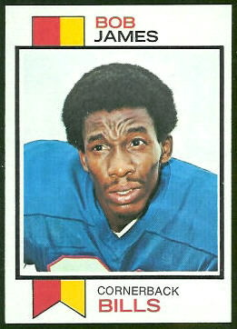 Bob James 1973 Topps football card