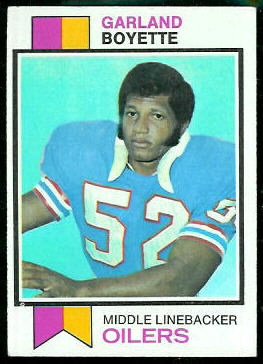 Garland Boyette 1973 Topps football card