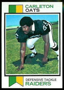 Carleton Oats 1973 Topps football card