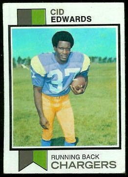 Cid Edwards 1973 Topps football card