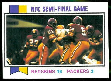 NFC Semi-Final Game 1973 Topps football card