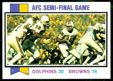 AFC Semi-Final Game 1973 Topps football card