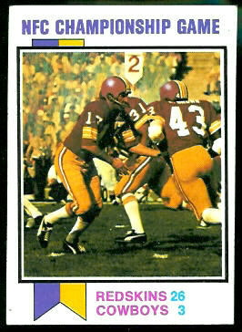 NFC Championship Game 1973 Topps football card