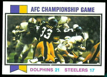 AFC Championship Game 1973 Topps football card