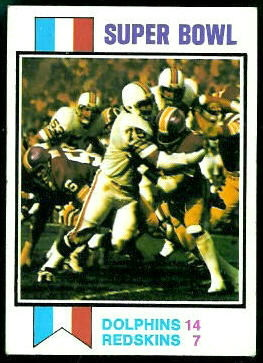 Super Bowl 1973 Topps football card