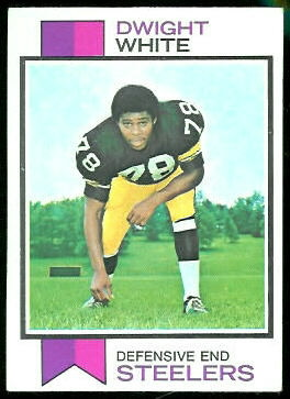 Dwight White 1973 Topps football card