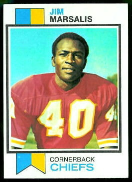 Jim Marsalis 1973 Topps football card